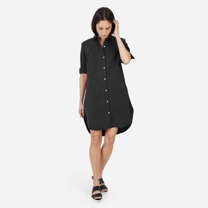 Everlane twill shirt dress - washed black